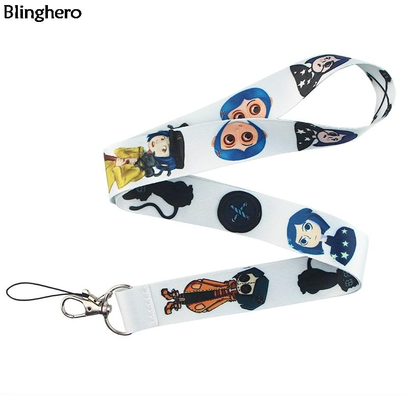 Blinghero Cute Lanyard Cartoon Neck Strap Lanyards For Keys ID Card Gym Mobile Phone Straps Badge Holder DIY Hang Rope ZC0221