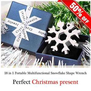 Wrench Pocket-Tool Ratchet-Combination Snowflake Repair Portable 18-In-1