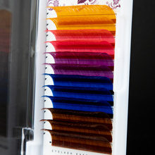 12 Rows/Tray 5 Colors Rainbow Colored Eyelash Extension Individual Faux Mink Colorful Eyelashes Soft Cilia Eye Lash Extensions