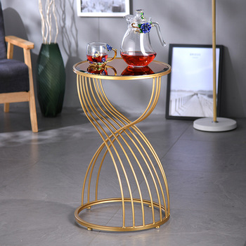 Irregular Circular iron living room small round table  1
