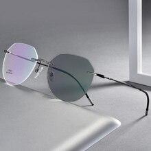 Gafas fotocromáticas sin montura para miopía mujeres hombres gafas de sol de piloto miopía gafas de conducción de viaje 0, 1,0 ~ 6,0 N5