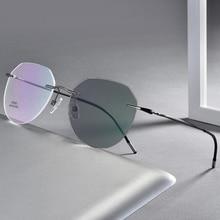 Senza montatura Fotocromatiche Miopia Occhiali Degli Uomini Delle Donne Miopi Occhiali Da Sole Pilota di Viaggio Occhiali di Guida 0, 1.0 ~ 6.0 N5