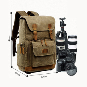 Image 5 - Batik Canvas Waterproof Photography Bag Outdoor Wear resistant Large Photo Camera Backpack Men for Fujifilm Nikon Canon Sony