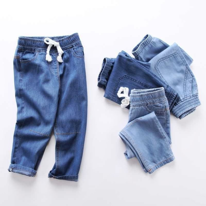 BOY'S 5 Thin Jeans 3-6-Year-Old Summer 4 Pants 7 Children 8-Summer Trousers Small CHILDREN'S Summer Wear 9 Summer Loose-Fit Trou