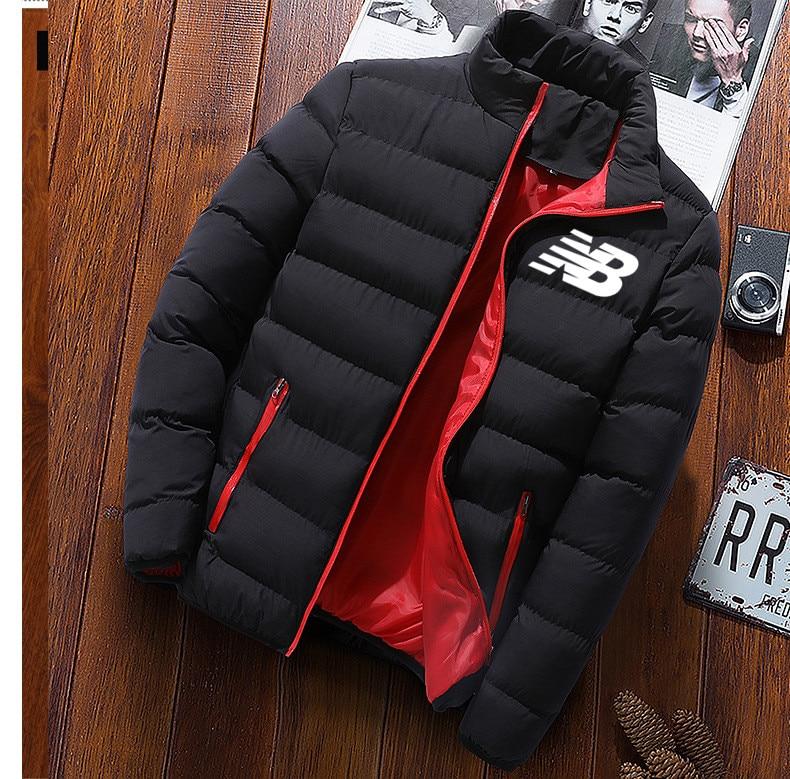 Новый Утепленное пальто мужские пальто зимнее повседневное Мужское пальто сплошной цвет воротник-стойка для мужчин с защитой от ветра от х...