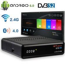 4K Android TV box GTmedia GTS pro unterstützt FTA DVB-S/S2 M3U CCam BT 4,0 gebaut in Google shop 2,4G WiFi satellite tv decoder STB