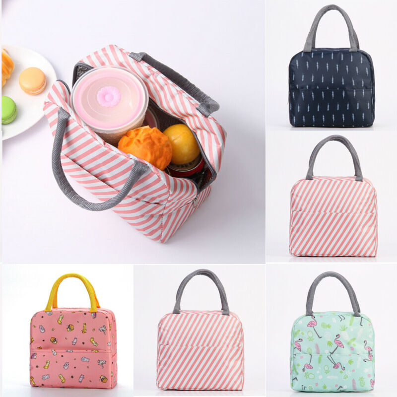 Waterproof Women Girls Childrens Kids Portable Thermal Cooler Insulated Lunch Box Storage Picnic Bag Pouch Tote Cooler