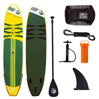 Promotional supersize inflatable sup paddle board/giant sup board with free equipments