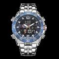 KT Мужские кварцевые аналоговые цифровые часы  роскошные модные спортивные наручные часы  водонепроницаемые часы из нержавеющей стали 50 м  д...