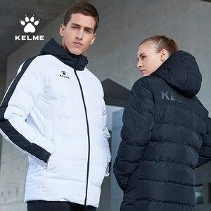 Image 3 - KELME Männer der Baumwolle Jacke Paar Mit Kapuze Warme Mantel Ausbildung Sport Team Uniform Baumwolle Gefütterte Mantel 3881405
