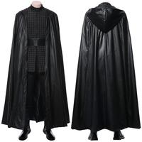 Star Cosplay Wars The Rise of Skywalker The Last Jedi Kylo Ren Cosplay Costume Uniform Full Suit Halloween Costumes Tailor Made