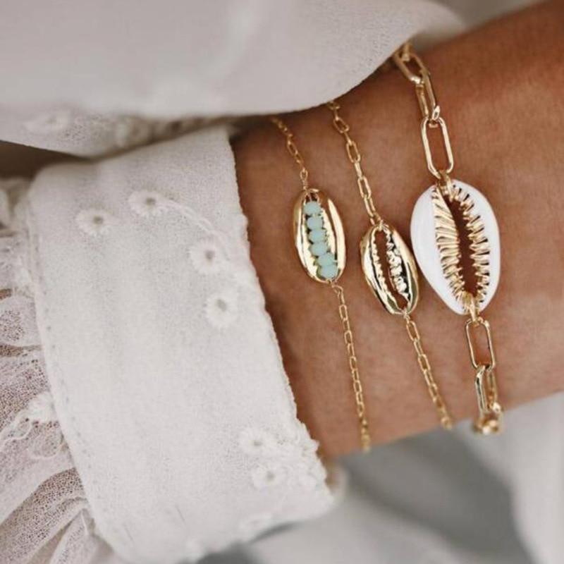 30 стилей микс черепаха сердце жемчуг волна любовь кристалл мрамор браслеты для женщин Бохо ювелирное изделие, браслет с кисточкой - Окраска металла: 4394