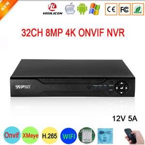 Video-Recorder NVR 32CH CCTV Face-Detection-H.265 Hi3536c Xmeye Surveillance Onvif 8MP