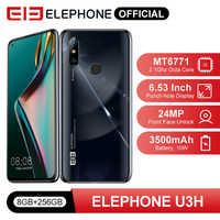 "ELEPHONE U3H Helio P70 восьмиядерный смартфон 8 Гб 256 ГБ 6,53 ""FHD + экран 48MP IMX586 задняя камера 24MP селфи разблокировка лица Android 10"