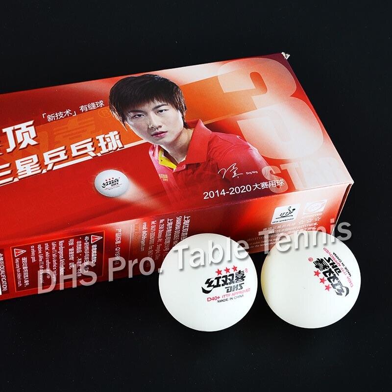 100 Balls DHS 3-star D40+ Table Tennis Ball Original 3 Star Seamed New Material ABS Plastic Ping Pong Balls Poly