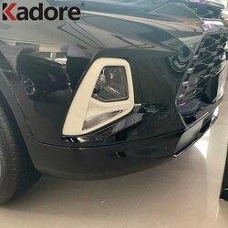 Para Chevrolet Blazer 2019 2020 ABS Foglight Frente Chrome Fog Light Guarnição Da Tampa Proteger Exterior Auto Acessórios Do Carro Styling