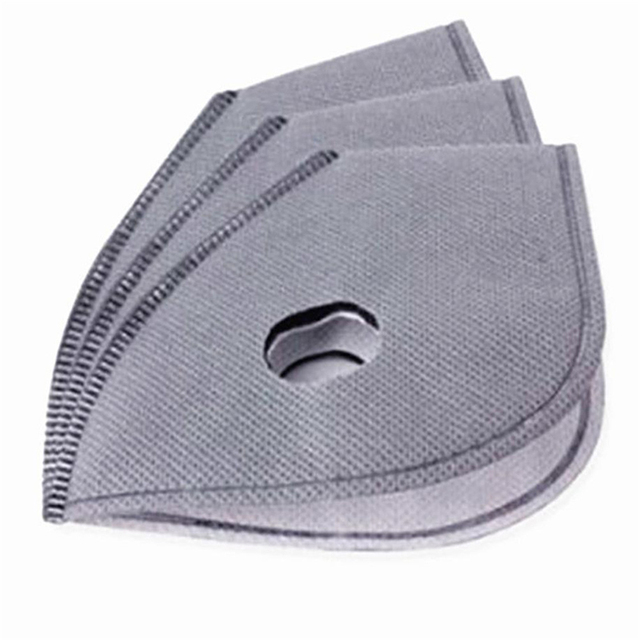 5pcs Face Mask Filter Paper Activated Carbon Filter Anti Allergy Flu Dustproof For Double Respirator PM2.5 Mouth Mask 4