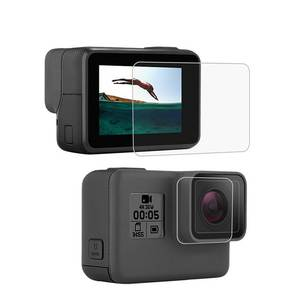 Cap-Cover Protector-Film Lens Lcd-Screen-Protection Gopro Hero Go-Pro 6-Hero7 Tempered-Glass