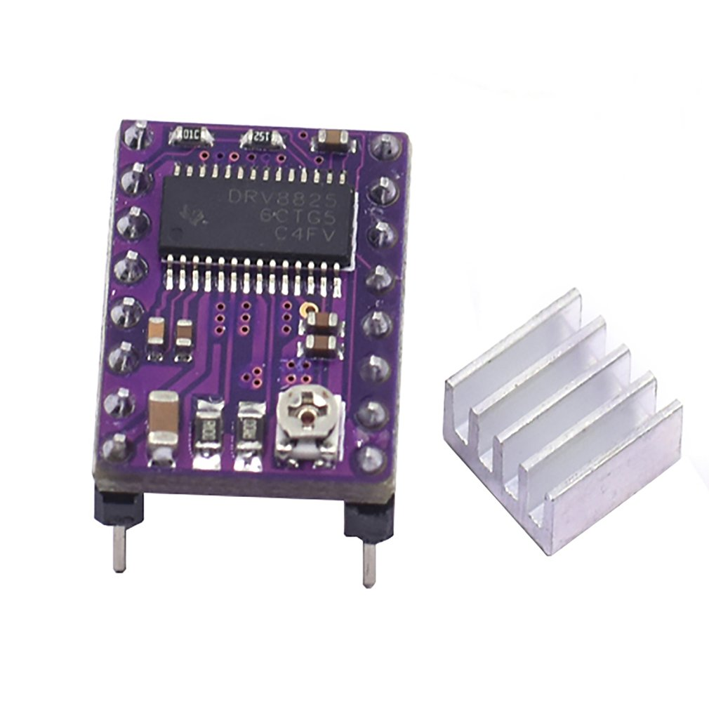 DRV8825 Stepper Motor Driver StepStick Mute Driver Ramps 1.4 Reprap 4 PCB Module With Heatsink 3D Pinter Part Accessories