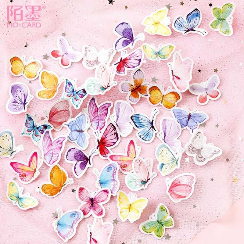 46 Stks/set Mini Butterfl Tuin Decoratie Sticker Diy Ablum Journal Dagboek Scrapbooking Label Papier Sticker Briefpapier
