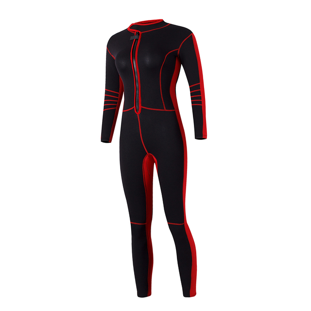 Full Body Cover Thin Wetsuit, Long Sleeves Sport Dive Skin Suit, for Swimming, Scuba Diving, Snorkeling for Women & Teens Black