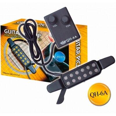 Звукосниматель (пьезодатчик) для акустической гитары GH QH-6A чг110 hohner black чехол для акустической гитары