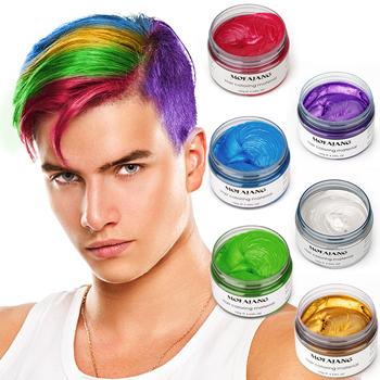 Pomada mężczyźni pomada do włosów mocny styl przywracając pomada do włosów wosk szkielet krem slicked oil mud utrzymać włosy mężczyźni lśniący połysk tanie i dobre opinie CN (pochodzenie) Hair wax Pomady i woski 120g
