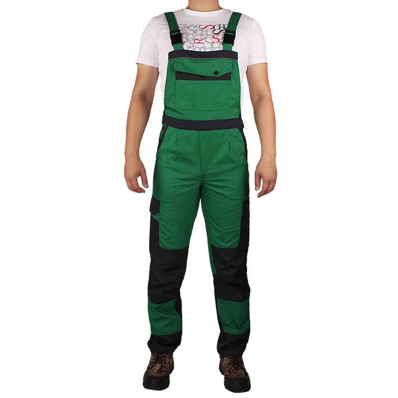 Men bib overall work coveralls uniform fashion locomotive dancing hip hop strap jumpsuit pants repairman sleeveless overall