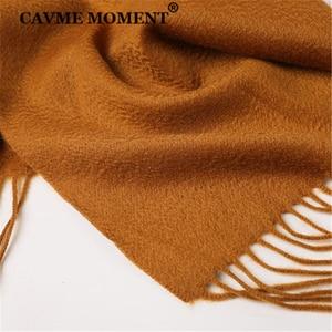 Image 5 - CAVME TOP Grade 100% Cashemere Schal für Mädchen Junge Kinder Rot Weihnachten Einfarbig Schals Geschenk 28*180cm 120g CUSTOM Brief