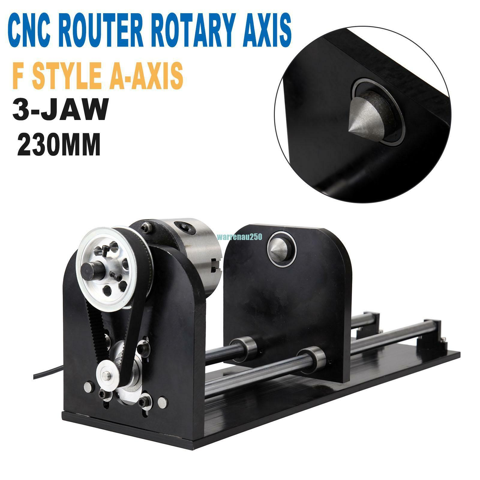 CNC Router Rotary Axis 3-Jaw Chuck A-Axis For Laser Engraver Engraving Machine