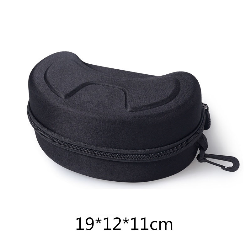 Protection EVA Ski Goggle Case Sunglasses Carrying Zipper Buckle Hard Box HoA;UK