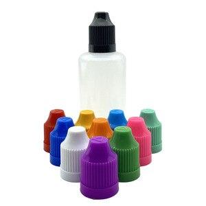 Image 3 - Bouteilles compte gouttes vide en plastique, 5 pièces, 3/5/10/15/20/30/50/60/100/120ml, bouteilles compte gouttes avec entonnoir