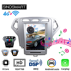 Sinosmart Andriod Tesla style car gps multimedia radio navigation player for Ford Mondeo 2007-2010 for Galaxy 2011-2013