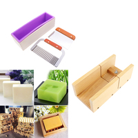 4pcs Silicone Mold Wooden Box Loaf Cake Maker Cutter Wire Slicer Mould Handmade Soap Candle Beveler Planer Cutting Making Tools