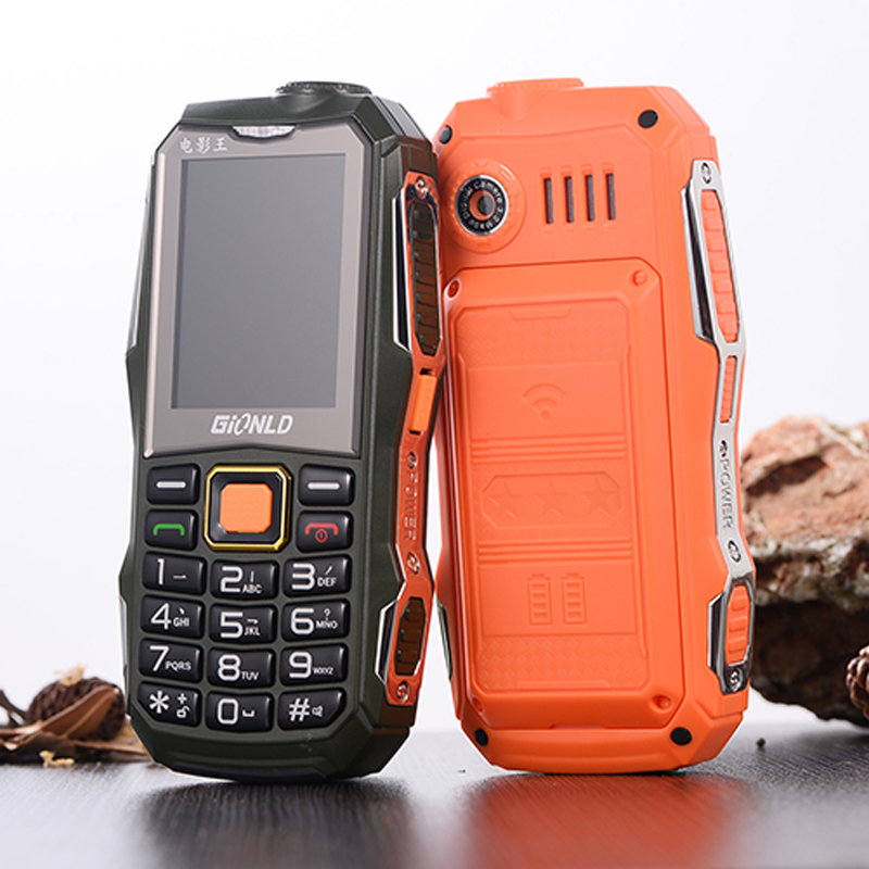 2G GSM Free Analog TV 2.4 Display Rugged Mobile Phone Powerbank Big Battery Dual Sim Large Keyboard Whatsapp Magic Voice image