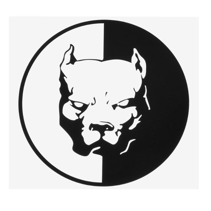 12*12cm Fashion Waterproof Pit Bull Dog Lovely Animals Vinyl Car Sticker Decoration Decal Auto Styling Exterior Accessories