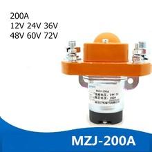 ZJ200A 1NO Normal-Open 12V 24V 36V 48V 60V 72V 200A DC Contactor for Motor Forklift Electromobile Grab Wehicle Car Winch