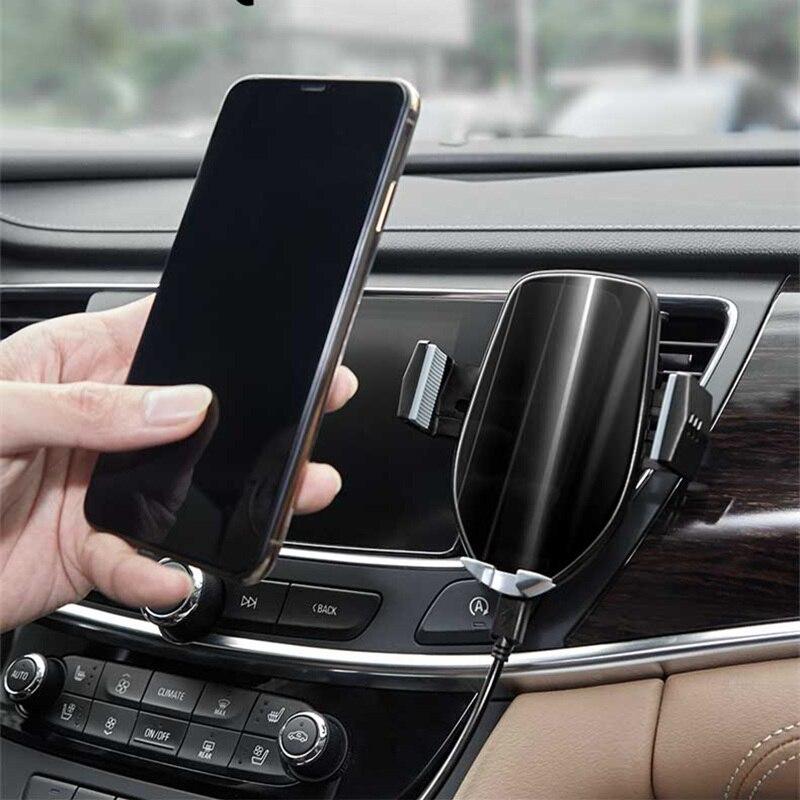 Support pour téléphone de voiture pour iPhone Samsung Intelligent infrarouge Qi voiture chargeur sans fil prise d'air support pour téléphone portable support pour téléphone