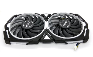 Original for MSI RX570 RX580 RX470 RX480 ARMOR 8G Graphics card cooling fan PLD09210S12HH DC12V 0.40A 1Set