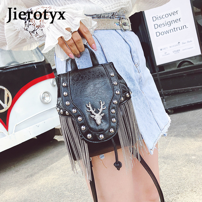 Image 2 - JIEROTYX Fashion Gothic Rock Leather Vintage Retro Steampunk Handbag Shoulder Bag Coin Purse Holder Women Messenger Bag 2020Top-Handle Bags   -