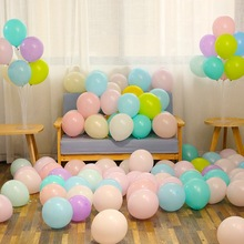 100 Pcs 10 Inch Wedding Balloons Decoration Pastel Round Beautiful Macarons Party Balloon Pink Balls Arch