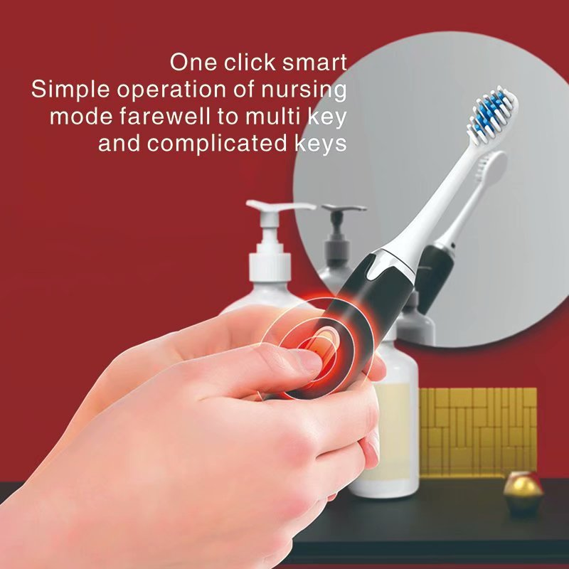 Toothbrush Electric Sonic Wave USB Rechargeable Couple 5 Modes Oral Health Whitening IPX7 Waterproof Adult Ultrason Teeth Brush