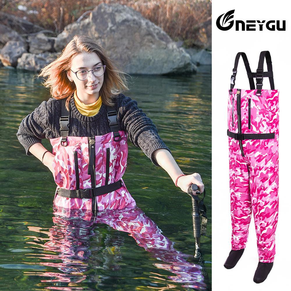 wygu waders de pesca feminino impermeavel e respiravel peito wader com ziper de cobre waders resistentes