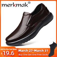 Merkmak 2020 New Men's Genuine Leather Shoe Big Size 38-47 S