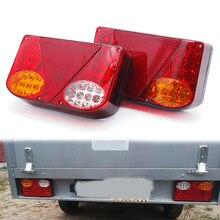 2x12v à prova dwaterproof água durável caminhão do carro led traseira luz da cauda luzes de advertência lâmpada traseira para caravanas reboque ute campistas atv barcos