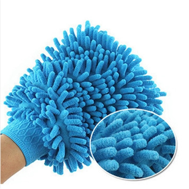1pc Microfiber Car Motorcycle Wash Glove Cleaning Car Care Detailling Products Super Mitt Microfiber Washing Tool 3