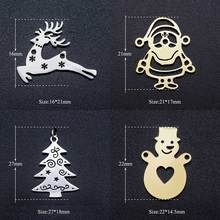 5pcs/lot 316L Stainless Steel Crhistmas Father Santa Claus Deer Tree DIY Connector Charm Wholesale Factory Direct Selling