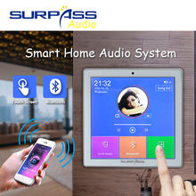 Smart Home Audio 2/4 Channel Nirkabel Bluetooth Mini Amplifier 4 ''Layar Sentuh FM Radio AUX TF Kartu Fungsi Di dinding Amplifier(China)