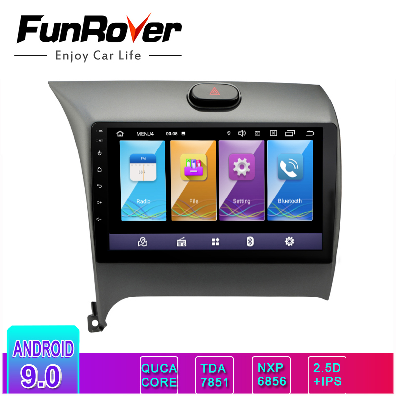 Funrover IPS+2.5D Android 9.0 Car Dvd Radio Multimedia Player For Kia CERATO K3 2012-2016 GPS Navigation Tape Recorder Stereo