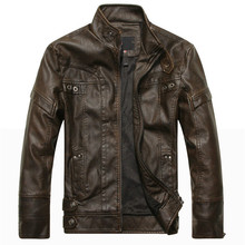 Autumn men motorcycle leather jacket men's leather jacket ja